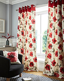 Adriana Print Eyelet Curtains