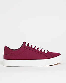 Busselton Lace Up Leisure Pumps Extra Wide Fit