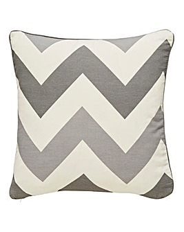 Chevron Print Filled Cushion