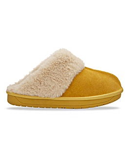 Suede Slippers Wide