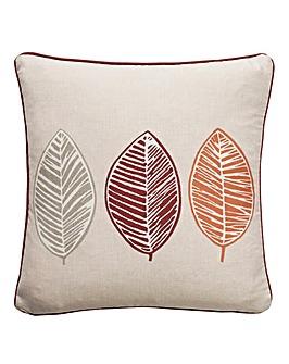 Skandi Leaf Print Filled Cushion