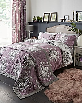 Mirabella Lavender Reversible Duvet Set