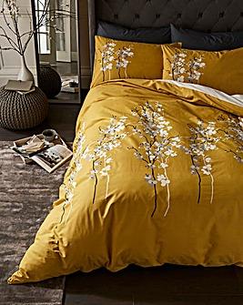 Oriental Flower Ochre Duvet Set
