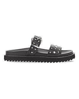 Klara Star Studded Mule Sandal Extra Wide