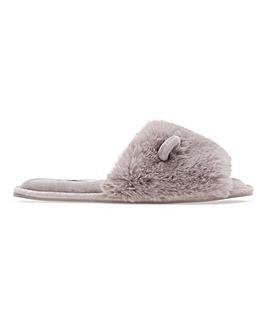 Monty Fluffy Ear Slippers Wide Fit