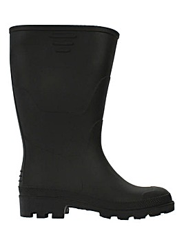 Black Wellies Standard Fit Standard Calf