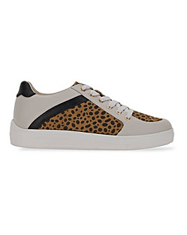 Farren Animal Print Trainers Wide Fit