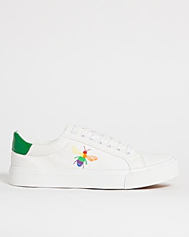 Ophelia Bee Emblem Trainers Wide Fit