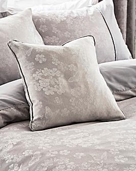 Serene Blossom Jacquard Cushion