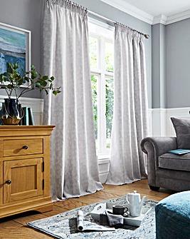 Serene Blossom Jacquard Curtains