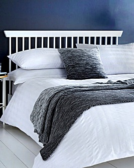 Serene White Seersucker Duvet Set