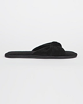 Lori Knotted Mule Slippers Wide Fit