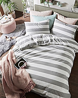Newark Stripe Cotton Rich Duvet Set