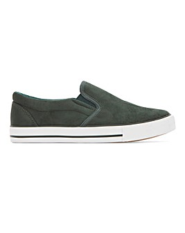 Nelson Canvas Slip On Pumps Wide Fit