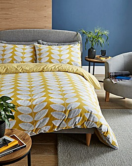Trinity Leaf Printed Duvet Set