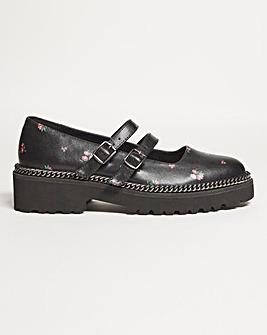 Jazz Double Buckle Shoe Wide