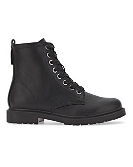 Cleo Lace Up Ankle Boots Wide Fit