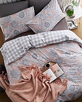 Zara Floral Printed Reversible Duvet Set