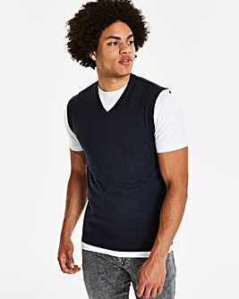 Navy V-Neck Slipover