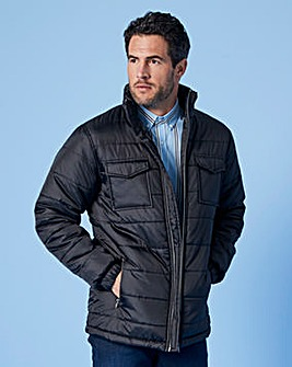 WILLIAMS & BROWN Black Padded Jacket