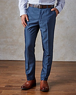 W&B London Blue Slim Fit Tonic Trousers 31 inch