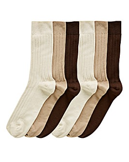 Pack of 6 No Elastic Socks