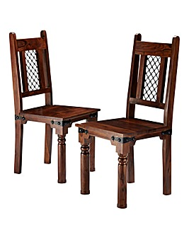 Jaipur Sheesham Pair of Dining Chairs