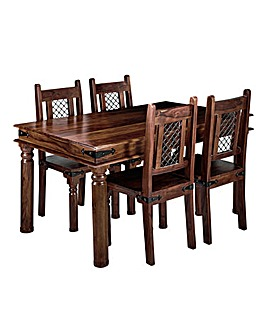 Jaipur Sheesham Dining Table & 4 Chairs