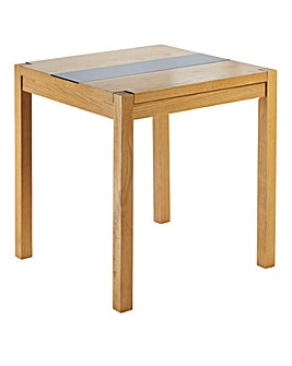 Oakham Glass Panel Square Dining Table