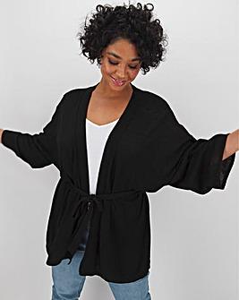 Linen Kimono Sleeve Cardigan