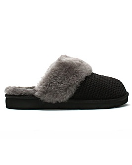 UGG Cozy Knit Sheepskin Slippers