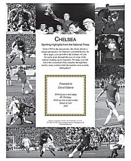 Personalised History Of Football Club Book Brown