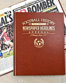 Personalised History Of Football Club Book Brown