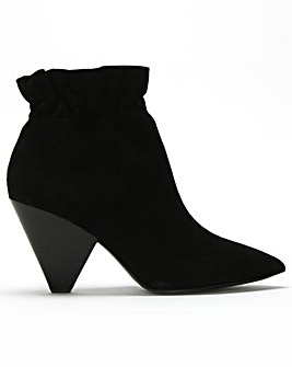 Ash Dafne Rouched Top-Line Ankle Boots