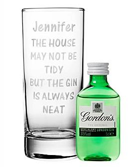 Personalise Glass & Gordons Gin