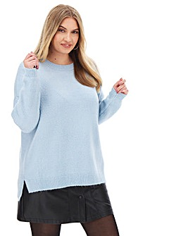 Ice Blue Cosy Boyfriend Jumper