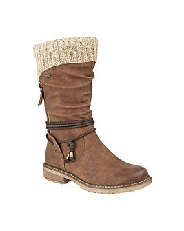 Lotus Bliss Tan Knee-High Boots