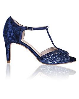 Perfect Luna Velvet Glitter Sandals