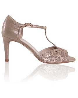 Perfect Luna Shimmer Metallic Sandals