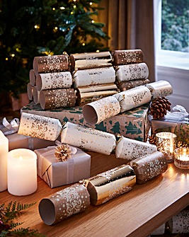 12 Luxury Gold Christmas Tree Crackers
