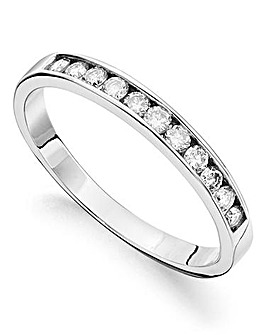 9ct Gold Moissanite Eternity Ring