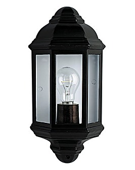 Black Lantern Wall Light