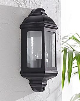 Black Lantern Hardwired Wall Light