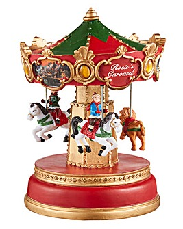 Christmas LED Carousel Animated Scene
