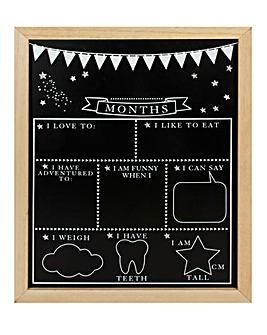 Baby Milestone Blackboard
