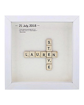 Personalised Couples Tiles Frame