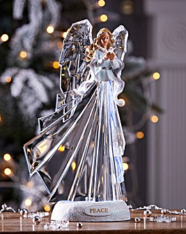 Christmas Peace Angel Lit Ornament