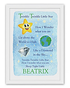 Personalised Nursery Rhyme Poster - Star