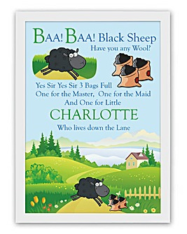 Personalised Nursery Rhyme Poster - Baa