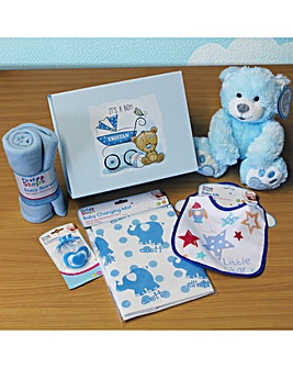 Personalised Baby Boy Complete Gift Set
